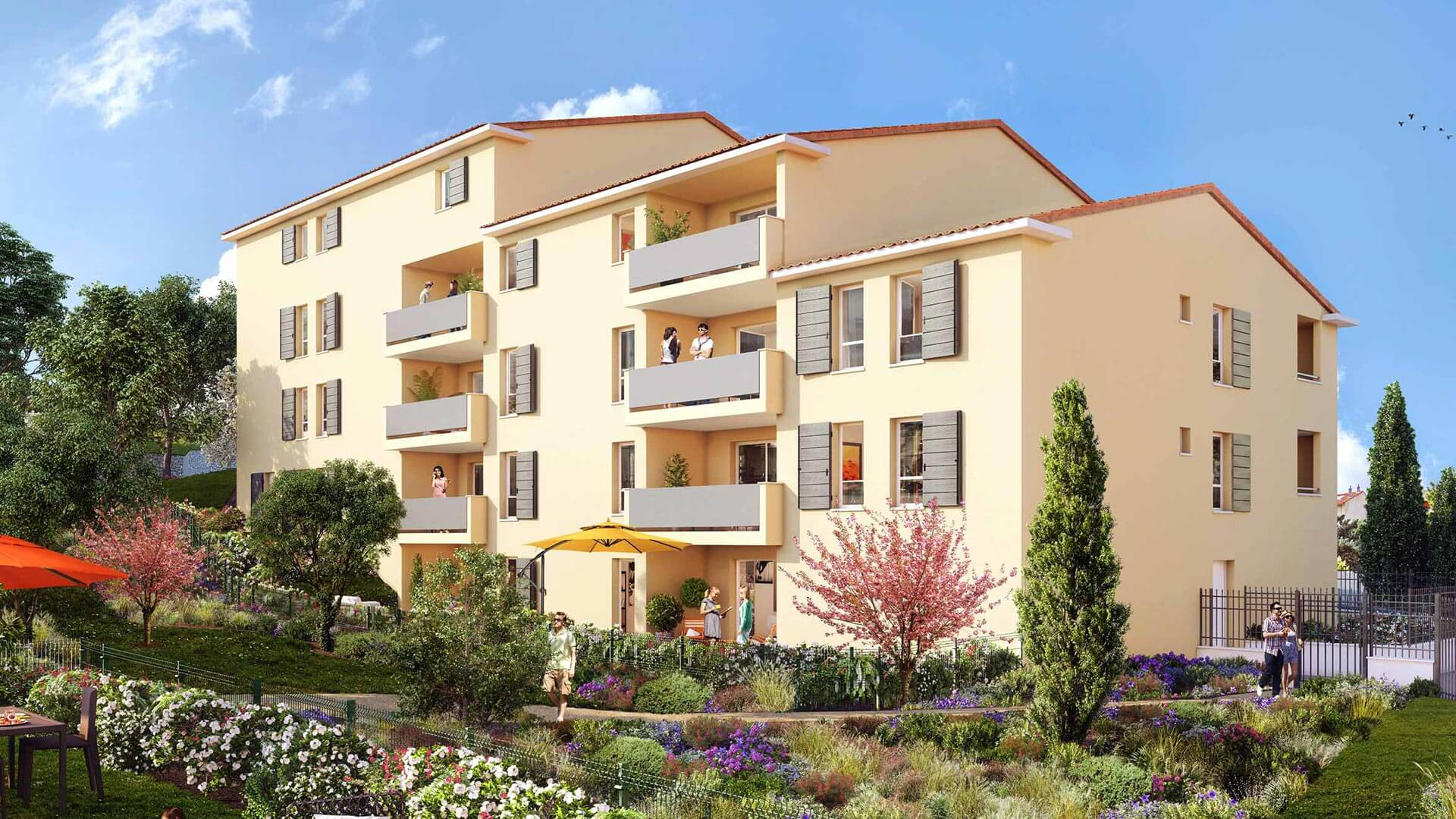 Coeur restanques programme immobilier neuf allauch for Immobilier neuf idf